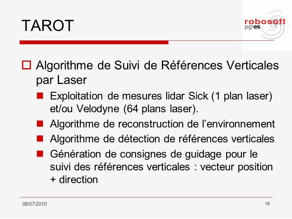 TAROT Algorithme de Suivi de Références Verticales par Laser