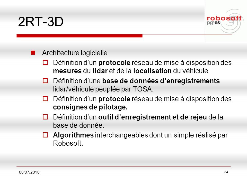 2RT-3D Architecture logicielle
