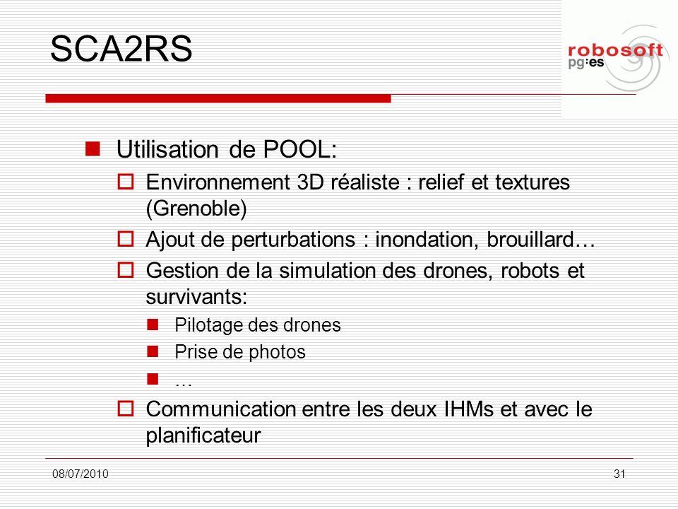 SCA2RS Utilisation de POOL: