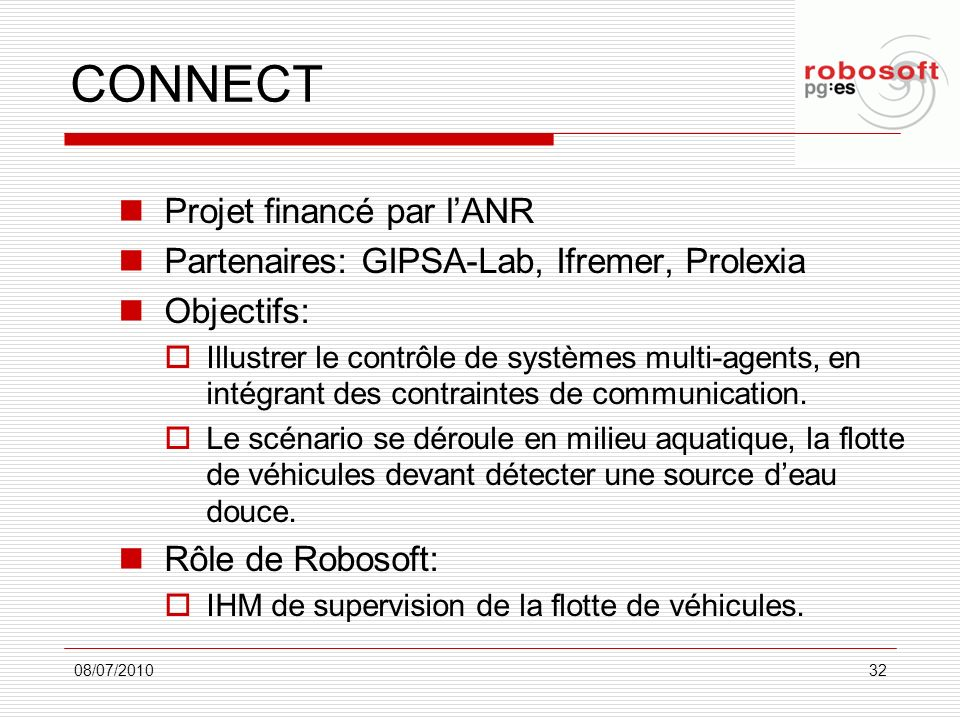 CONNECT Projet financé par l'ANR