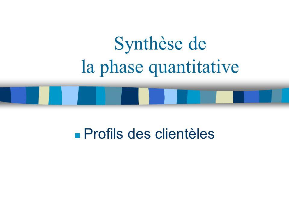 Synthèse de la phase quantitative
