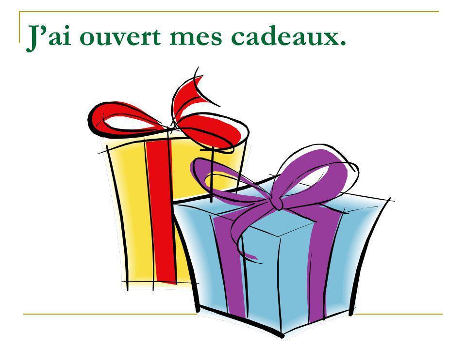 J'ai ouvert mes cadeaux.
