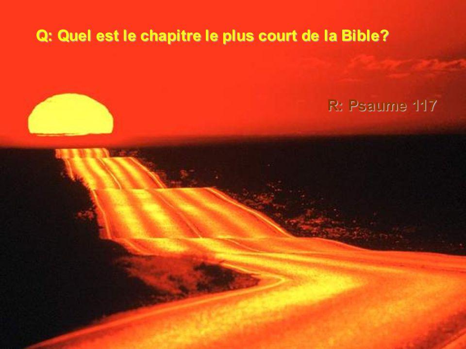 Q: Quel est le chapitre le plus court de la Bible