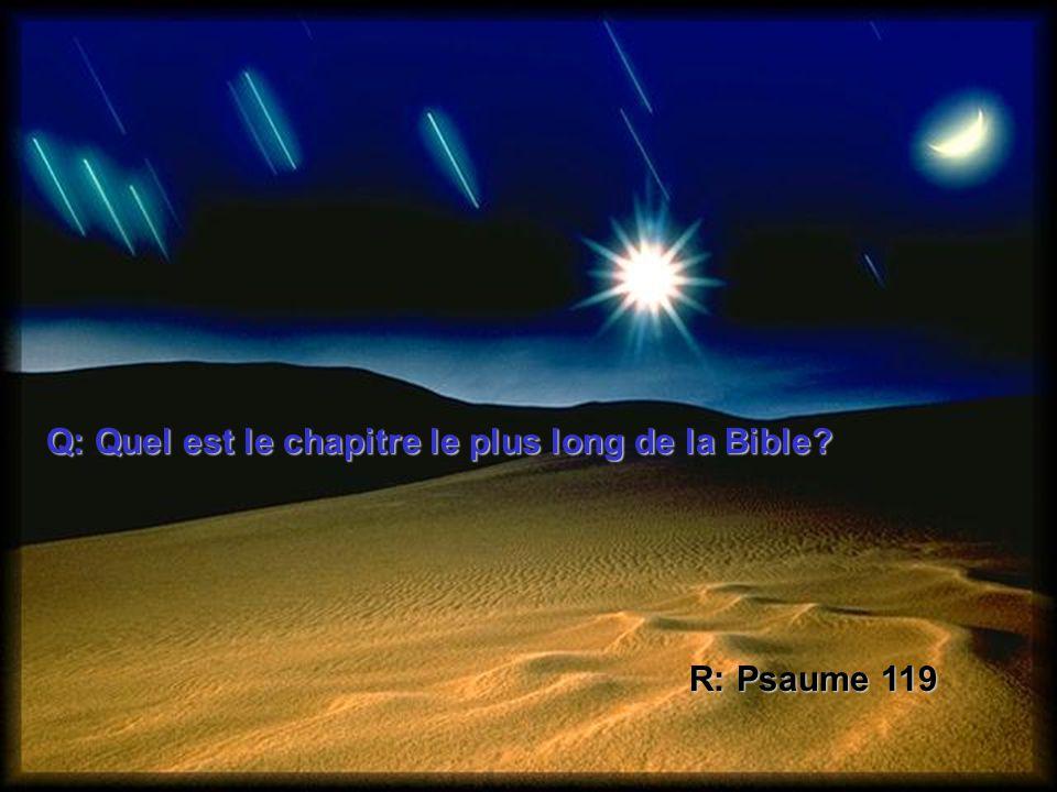 Q: Quel est le chapitre le plus long de la Bible