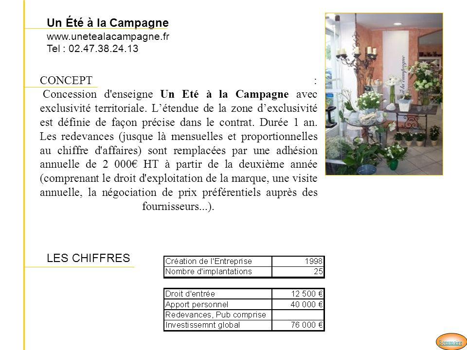 Un Été à la Campagne www.unetealacampagne.fr Tel : 02.47.38.24.13