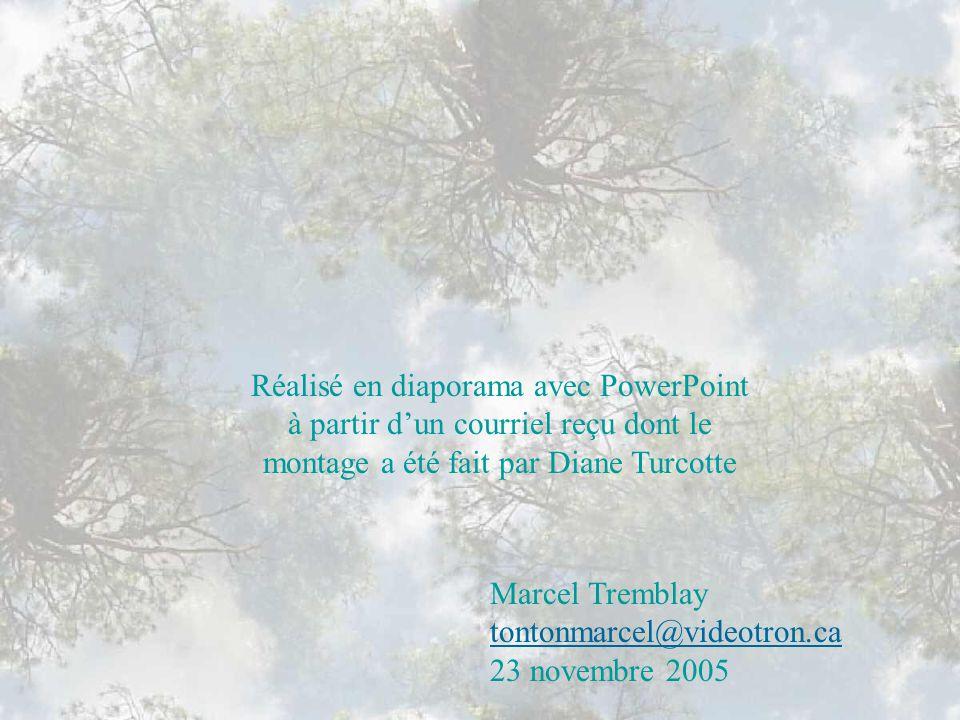 Réalisé en diaporama avec PowerPoint à partir d'un courriel reçu dont le montage a été fait par Diane Turcotte