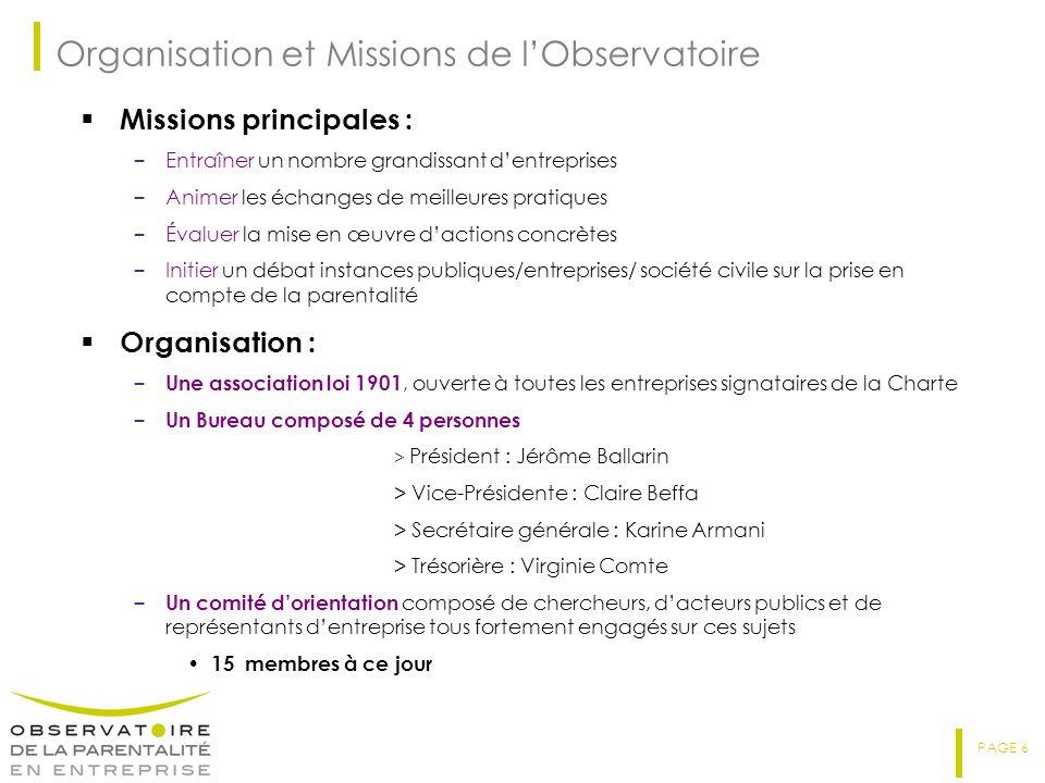 Organisation et Missions de l'Observatoire