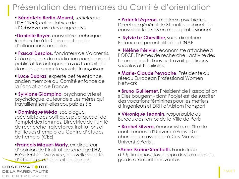 Présentation des membres du Comité d'orientation