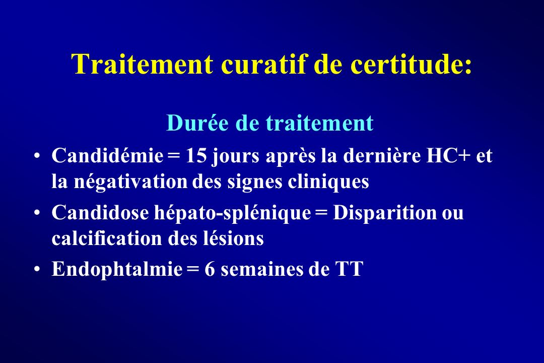 Traitement curatif de certitude: