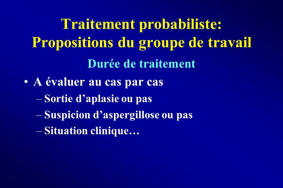 Traitement probabiliste: Propositions du groupe de travail