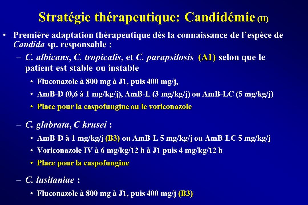 Stratégie thérapeutique: Candidémie (II)