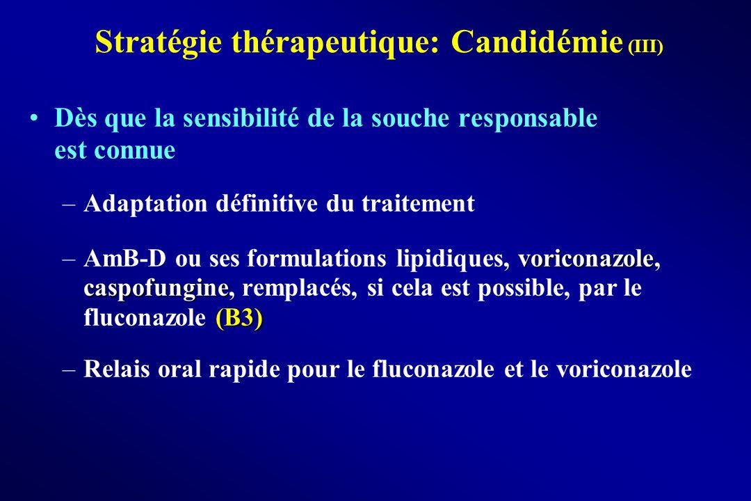 Stratégie thérapeutique: Candidémie (III)