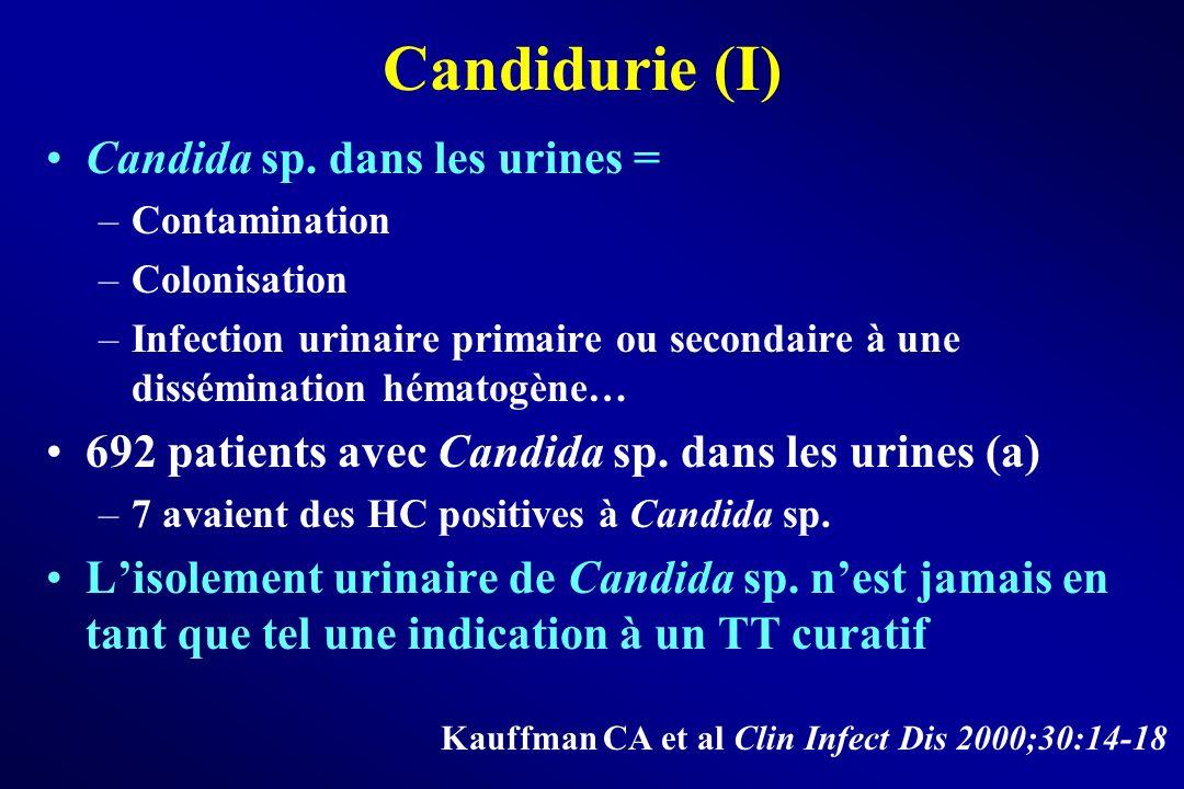 Candidurie (I) Candida sp. dans les urines =