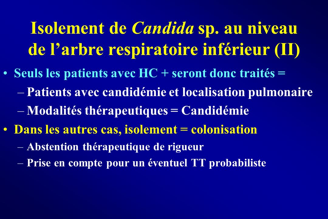 Isolement de Candida sp
