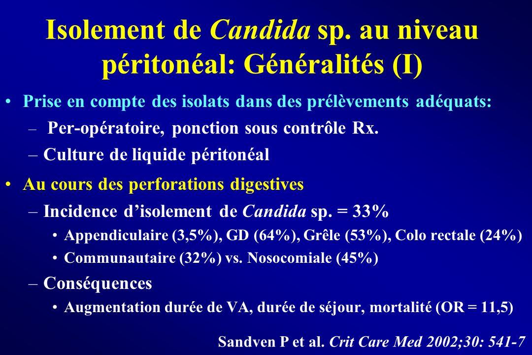 Isolement de Candida sp. au niveau péritonéal: Généralités (I)