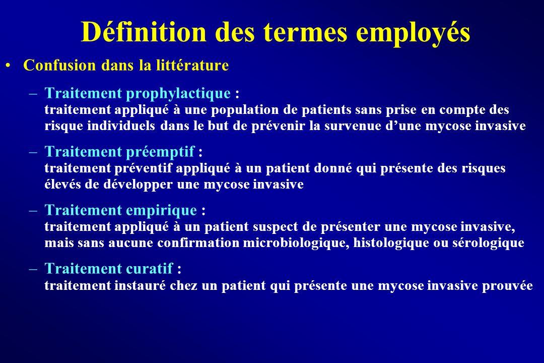 Définition des termes employés