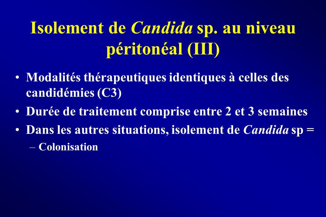 Isolement de Candida sp. au niveau péritonéal (III)