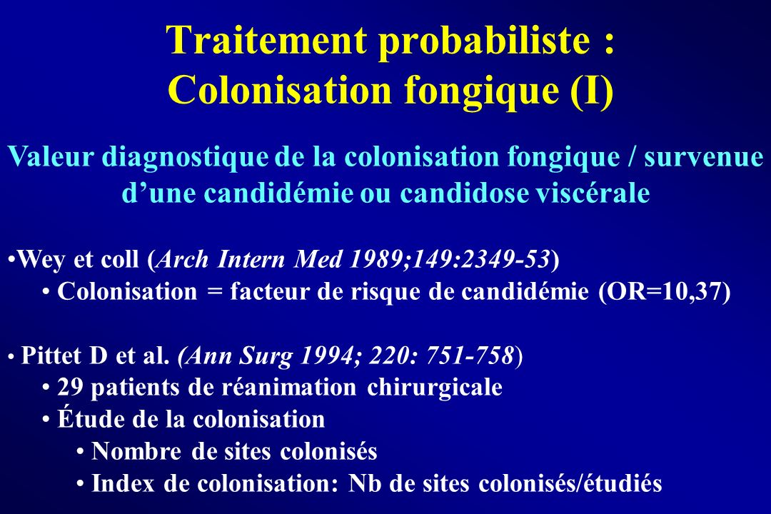 Traitement probabiliste : Colonisation fongique (I)