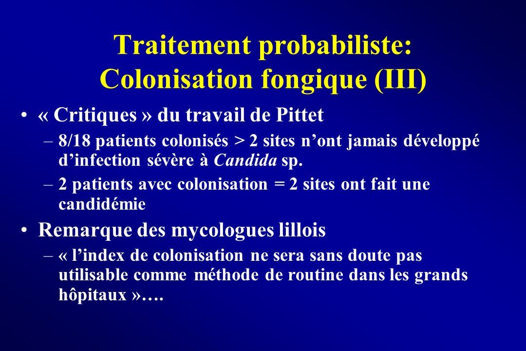 Traitement probabiliste: Colonisation fongique (III)