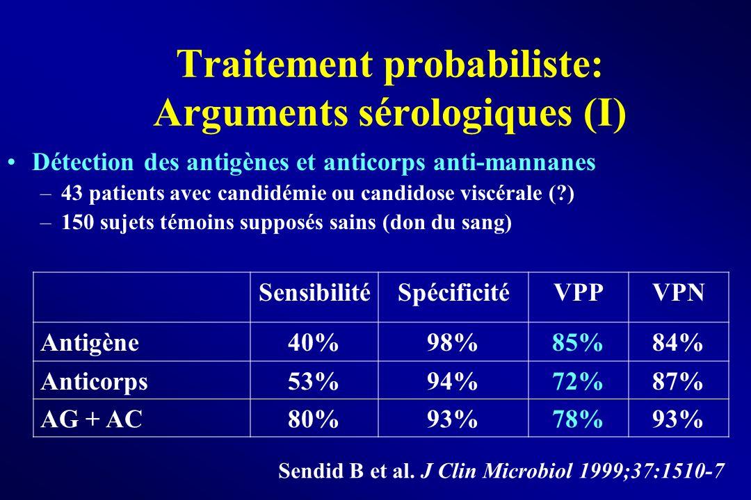 Traitement probabiliste: Arguments sérologiques (I)