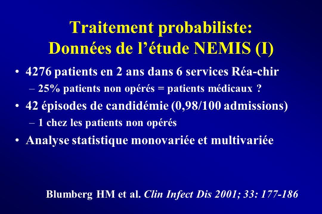 Traitement probabiliste: Données de l'étude NEMIS (I)