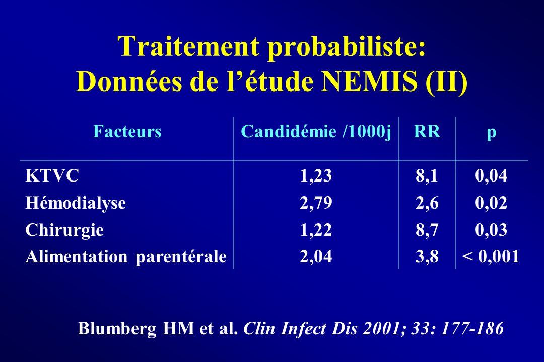 Traitement probabiliste: Données de l'étude NEMIS (II)