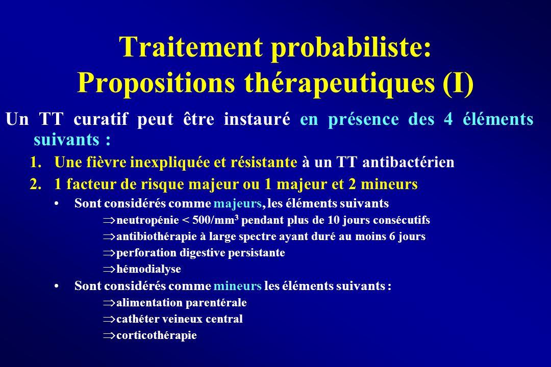 Traitement probabiliste: Propositions thérapeutiques (I)
