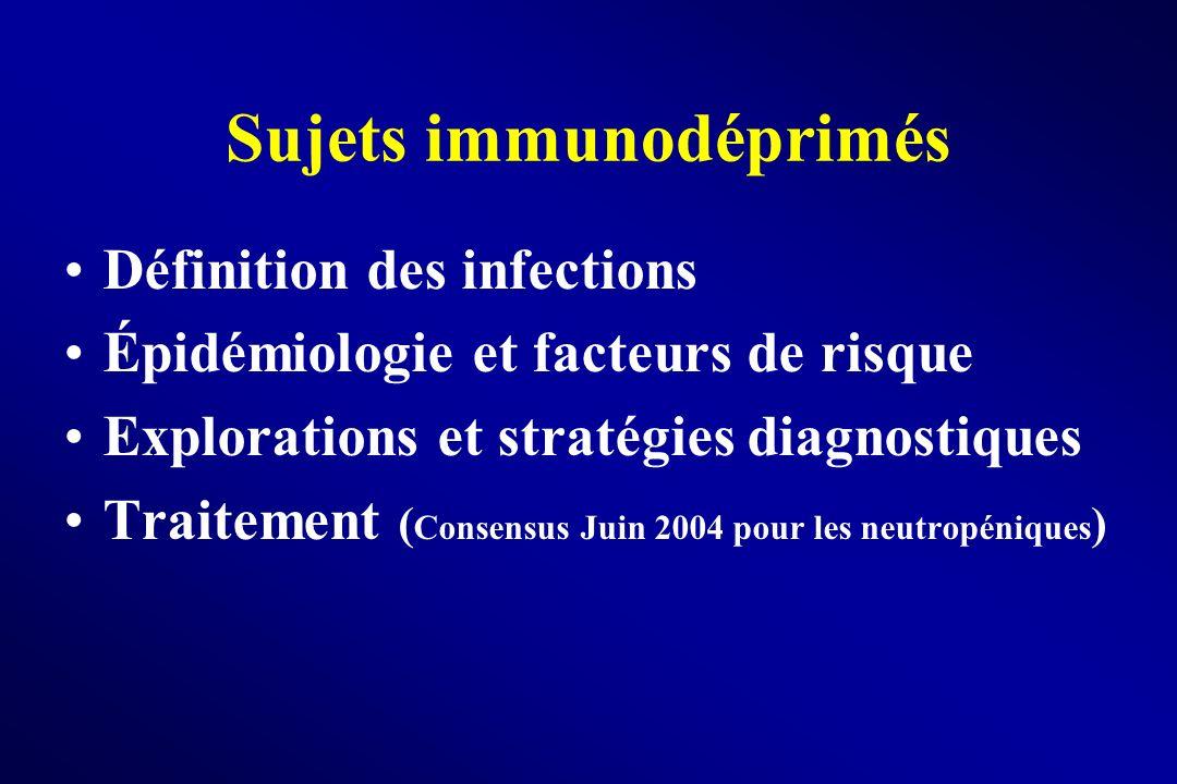 Sujets immunodéprimés