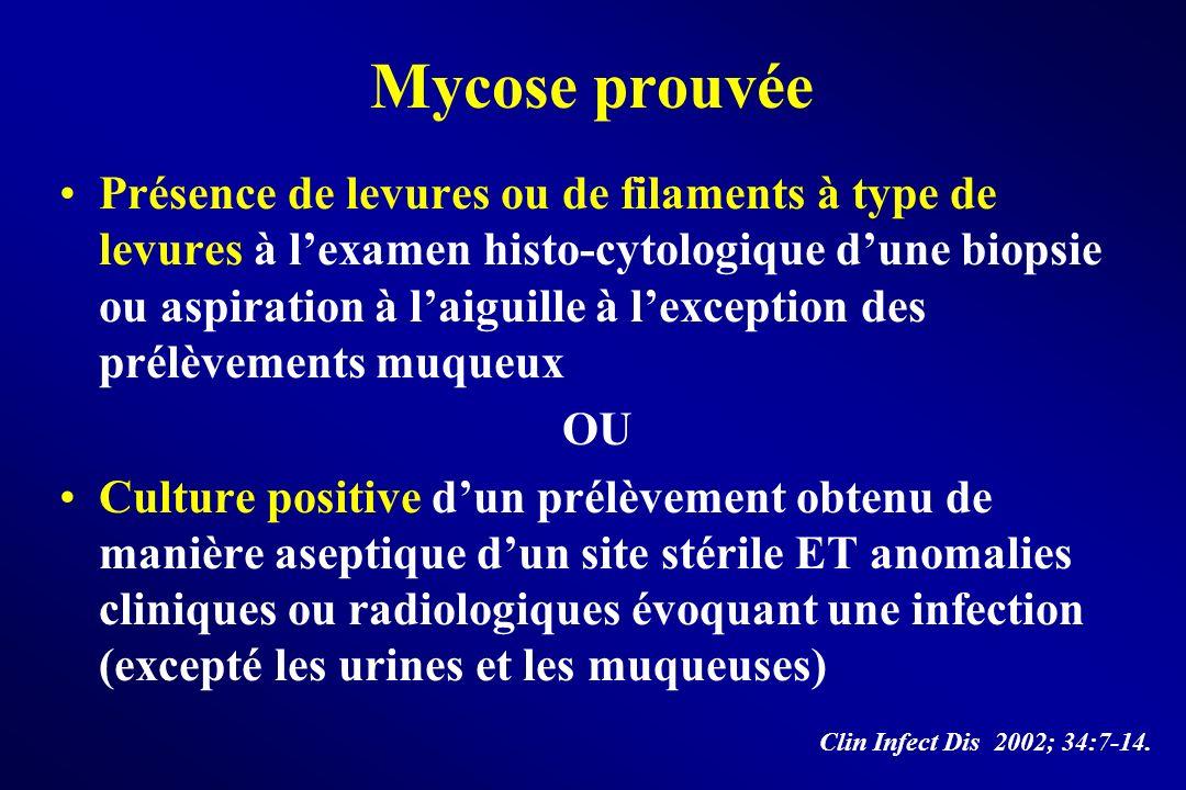 Mycose prouvée