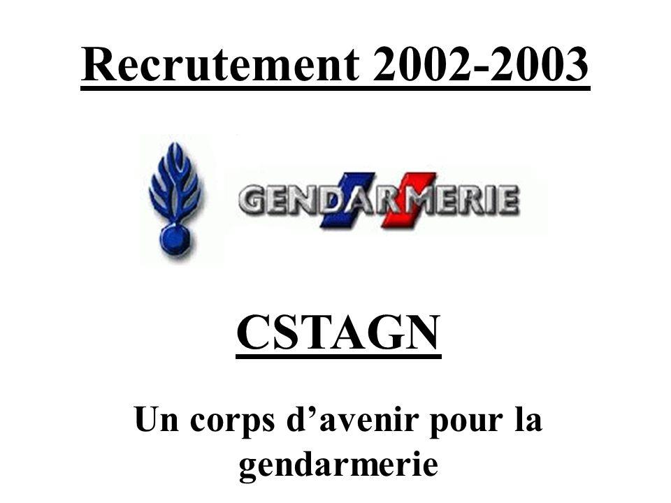 Un corps d'avenir pour la gendarmerie