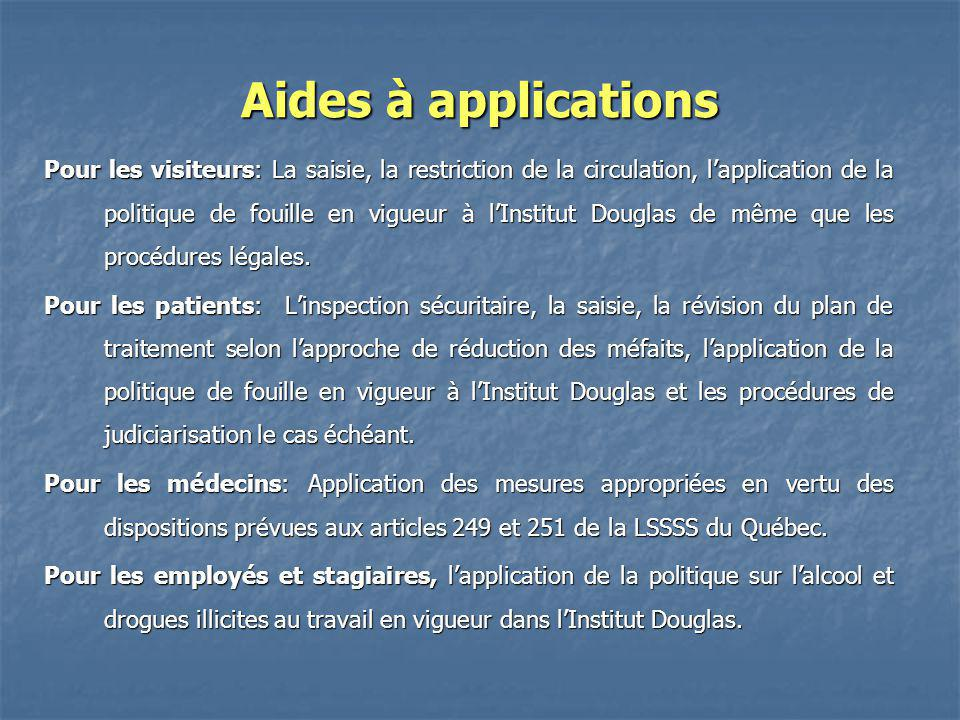 Aides à applications