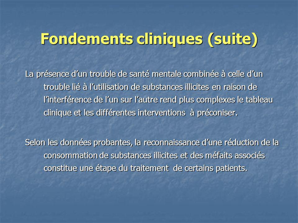 Fondements cliniques (suite)