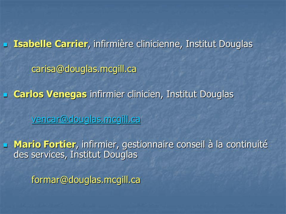 Isabelle Carrier, infirmière clinicienne, Institut Douglas