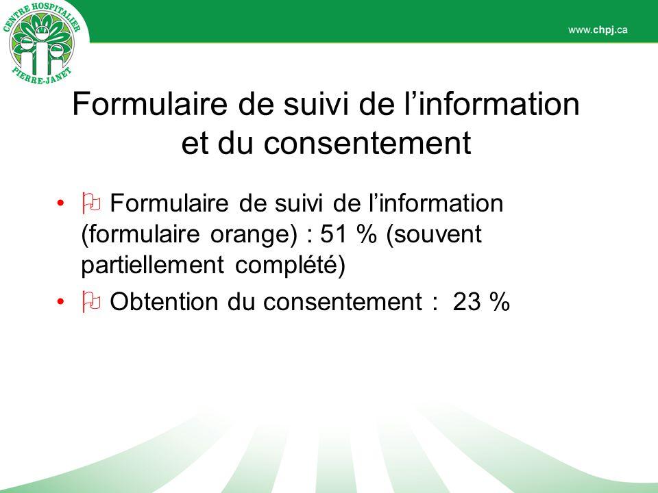 Formulaire de suivi de l'information et du consentement