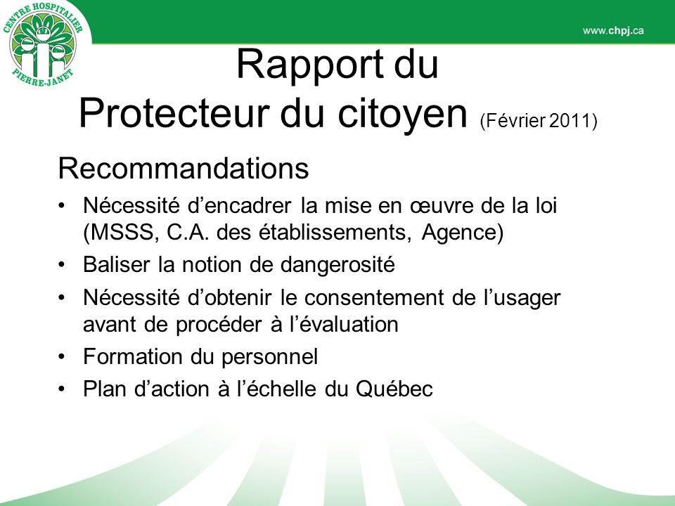 Rapport du Protecteur du citoyen (Février 2011)