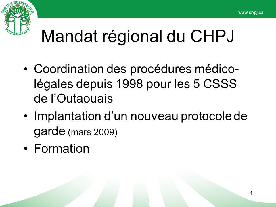 Mandat régional du CHPJ