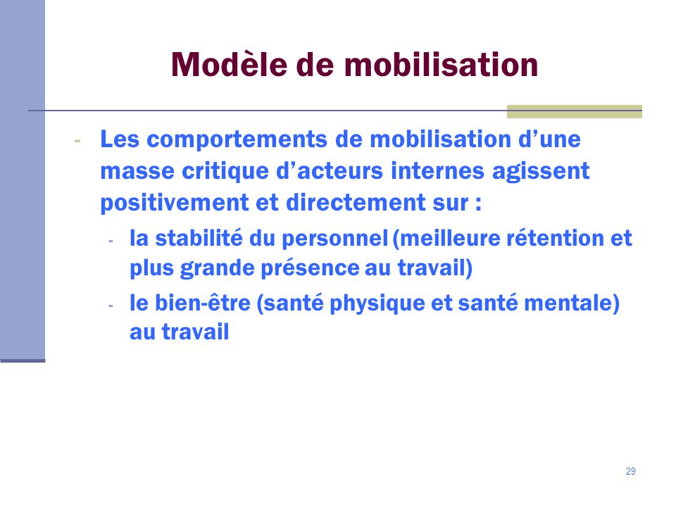 Modèle de mobilisation