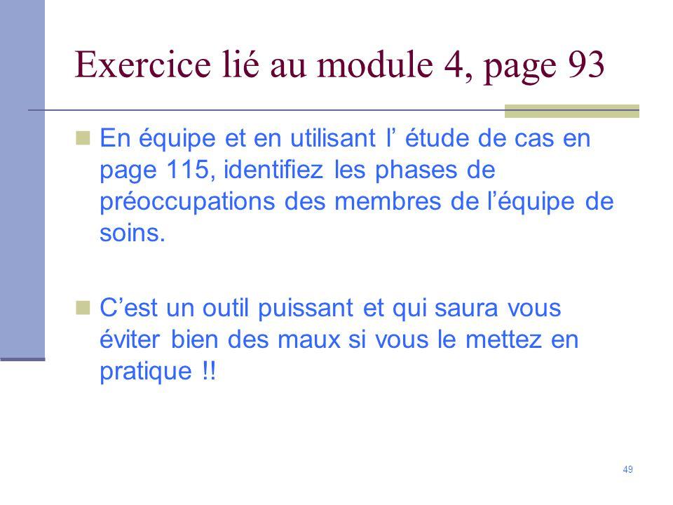 Exercice lié au module 4, page 93