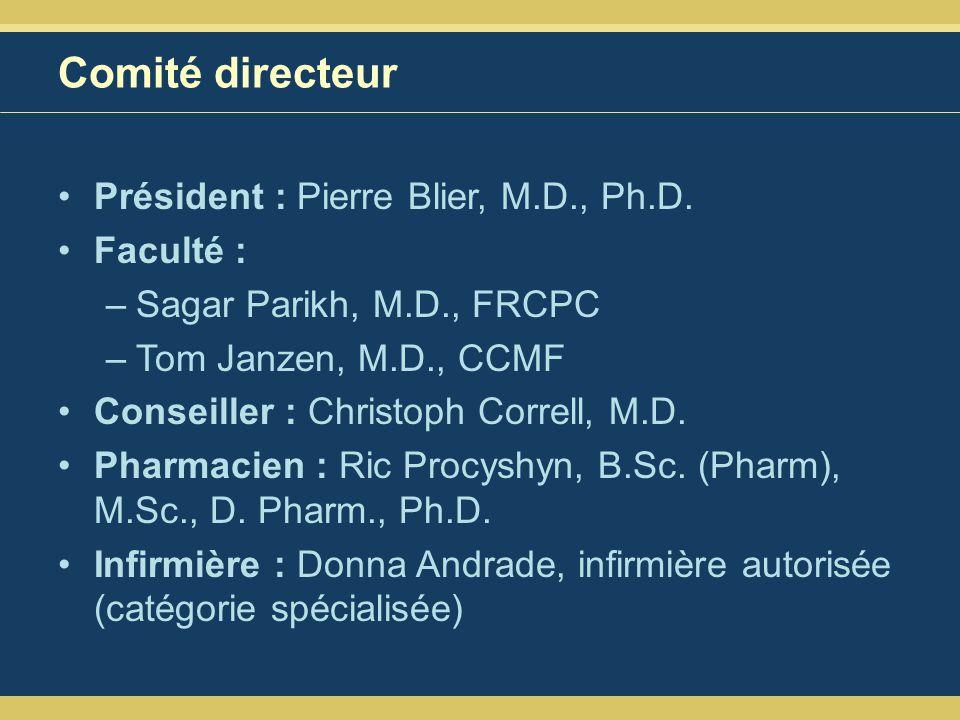 Comité directeur Président : Pierre Blier, M.D., Ph.D. Faculté :