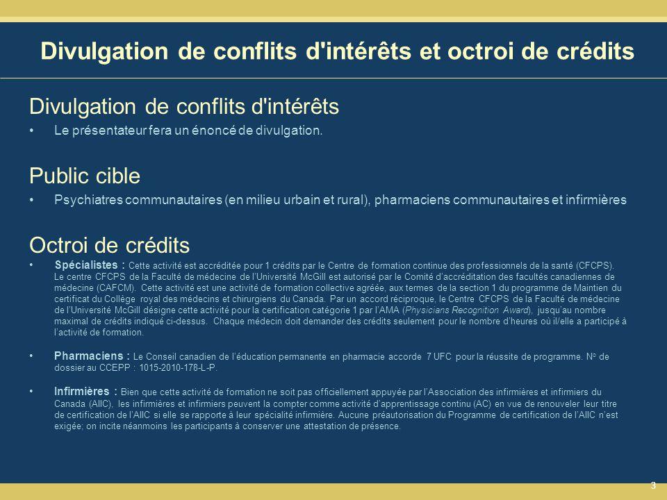 Divulgation de conflits d intérêts et octroi de crédits