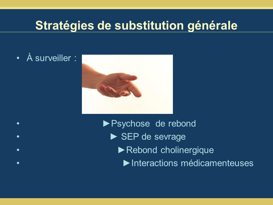 Stratégies de substitution générale