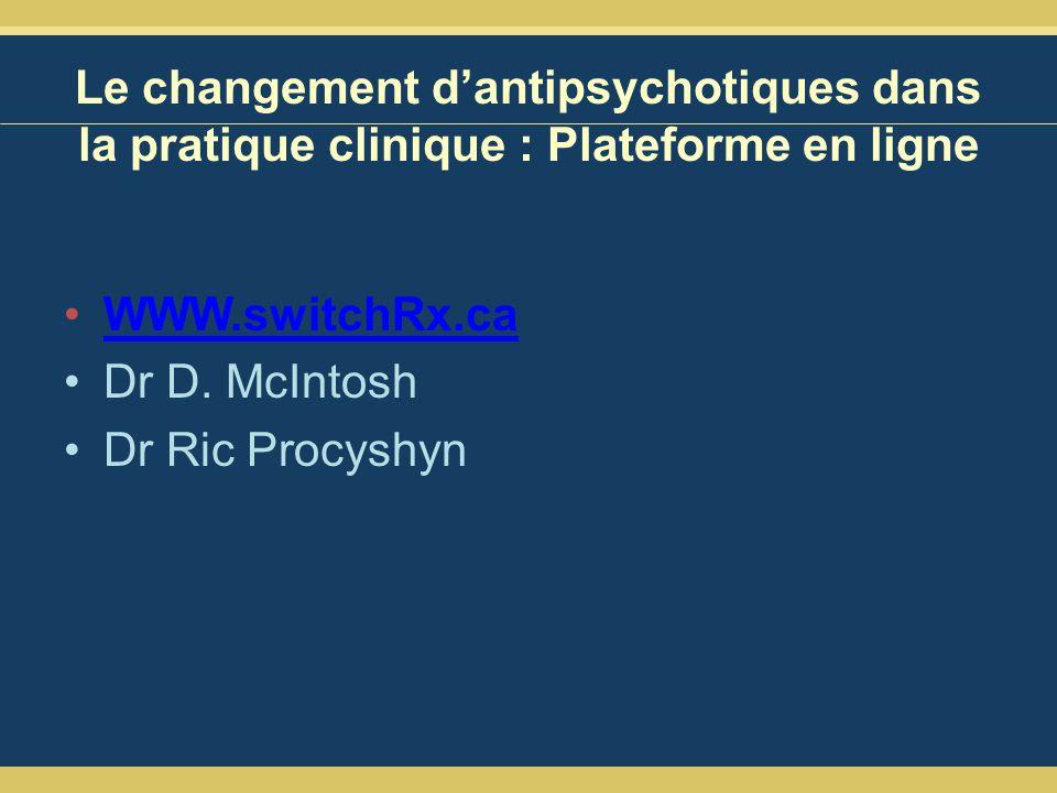 Le changement d'antipsychotiques dans la pratique clinique : Plateforme en ligne