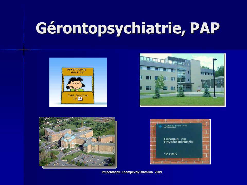 Gérontopsychiatrie, PAP