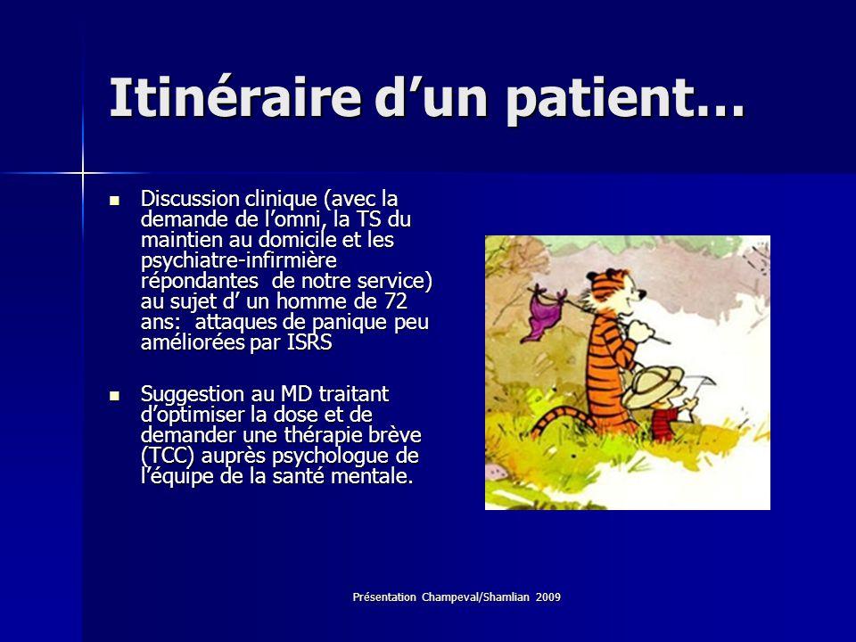Itinéraire d'un patient…