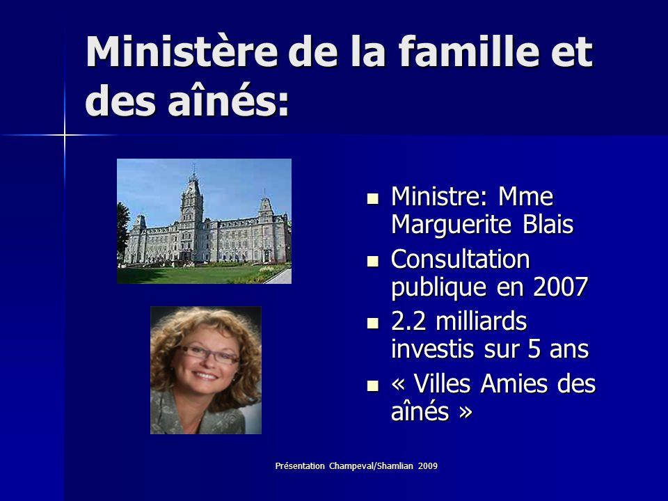 Ministère de la famille et des aînés: