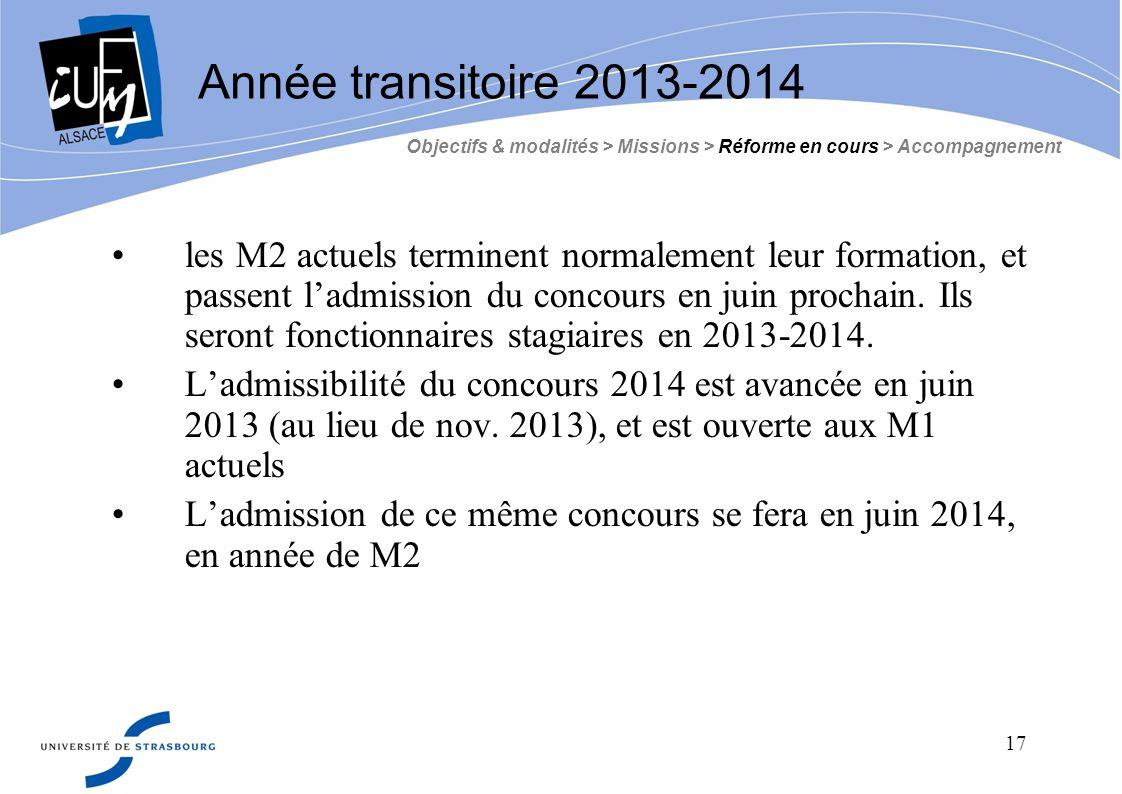 Année transitoire 2013-2014 Objectifs & modalités > Missions > Réforme en cours > Accompagnement.