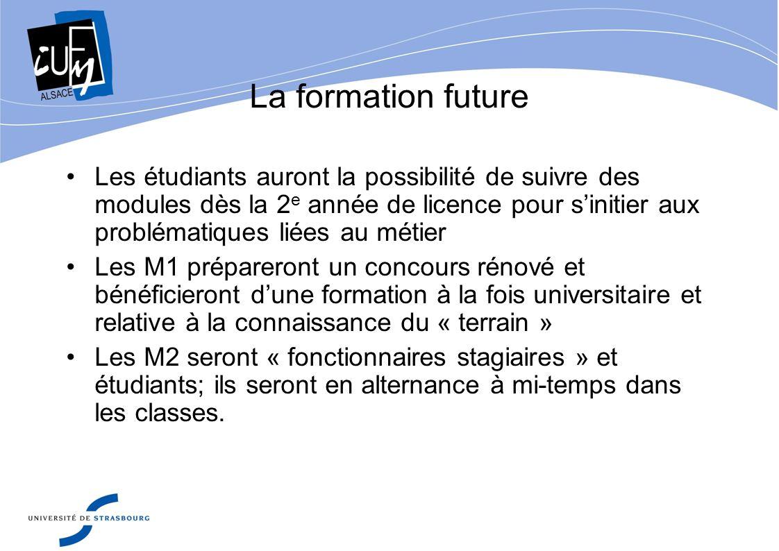 La formation future