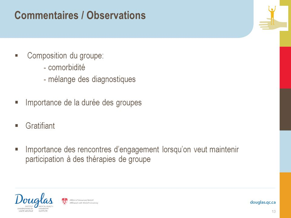 Commentaires / Observations