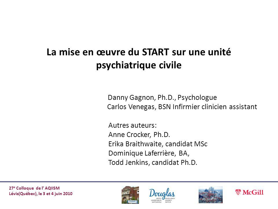 La mise en œuvre du START sur une unité psychiatrique civile