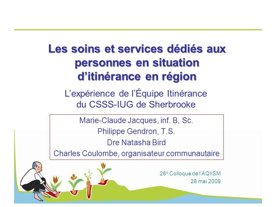 Les soins et services dédiés aux personnes en situation d'itinérance en région